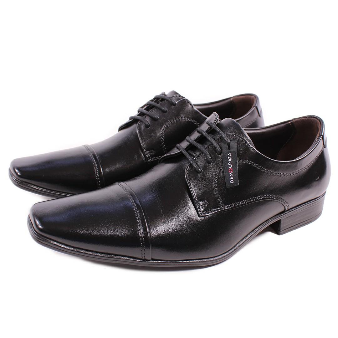 Sapato De Couro Democrata Metropolitan Aspen Preto 450052-001