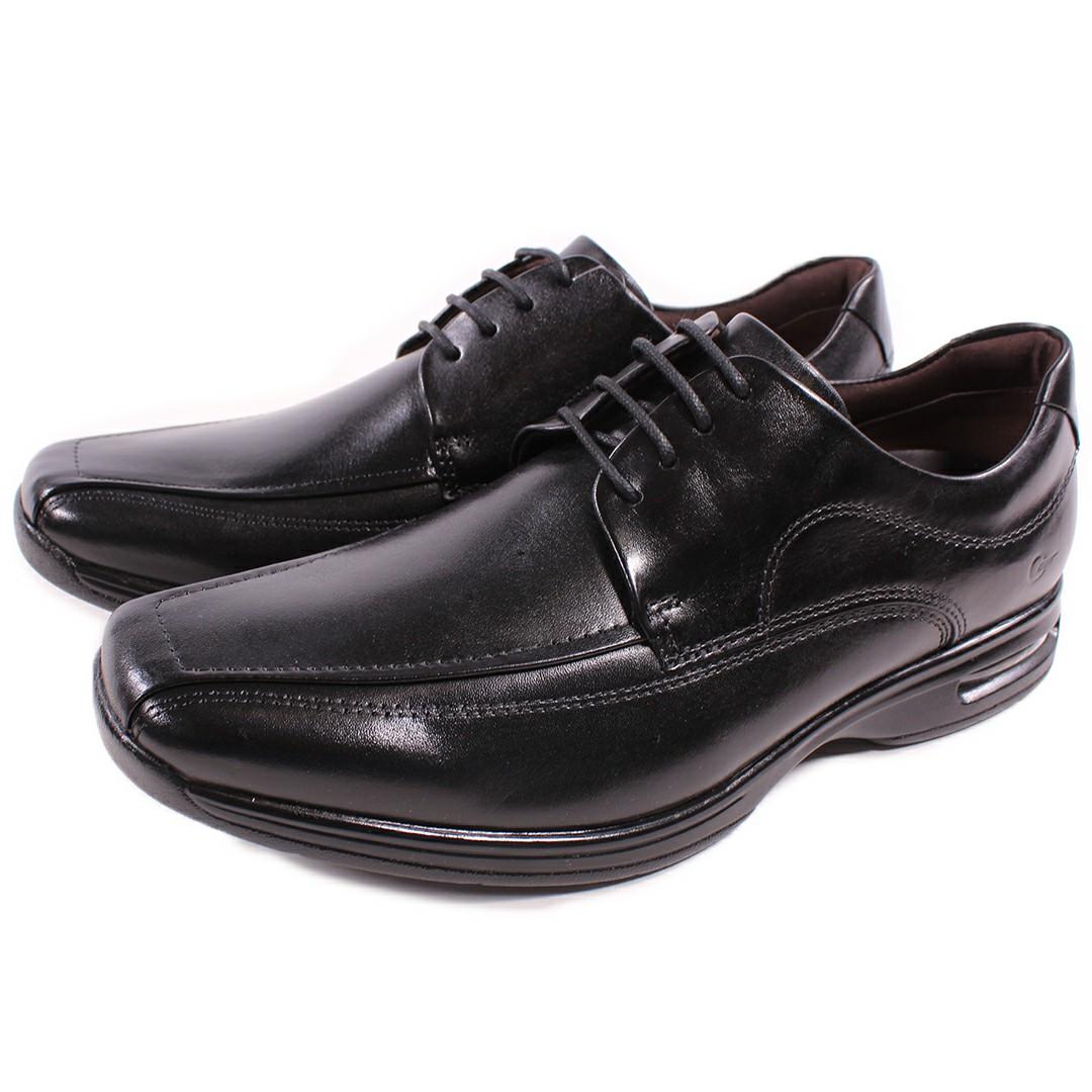 Sapato Democrata Smart Comfort Air Spot Preto Cadarço 448026-003