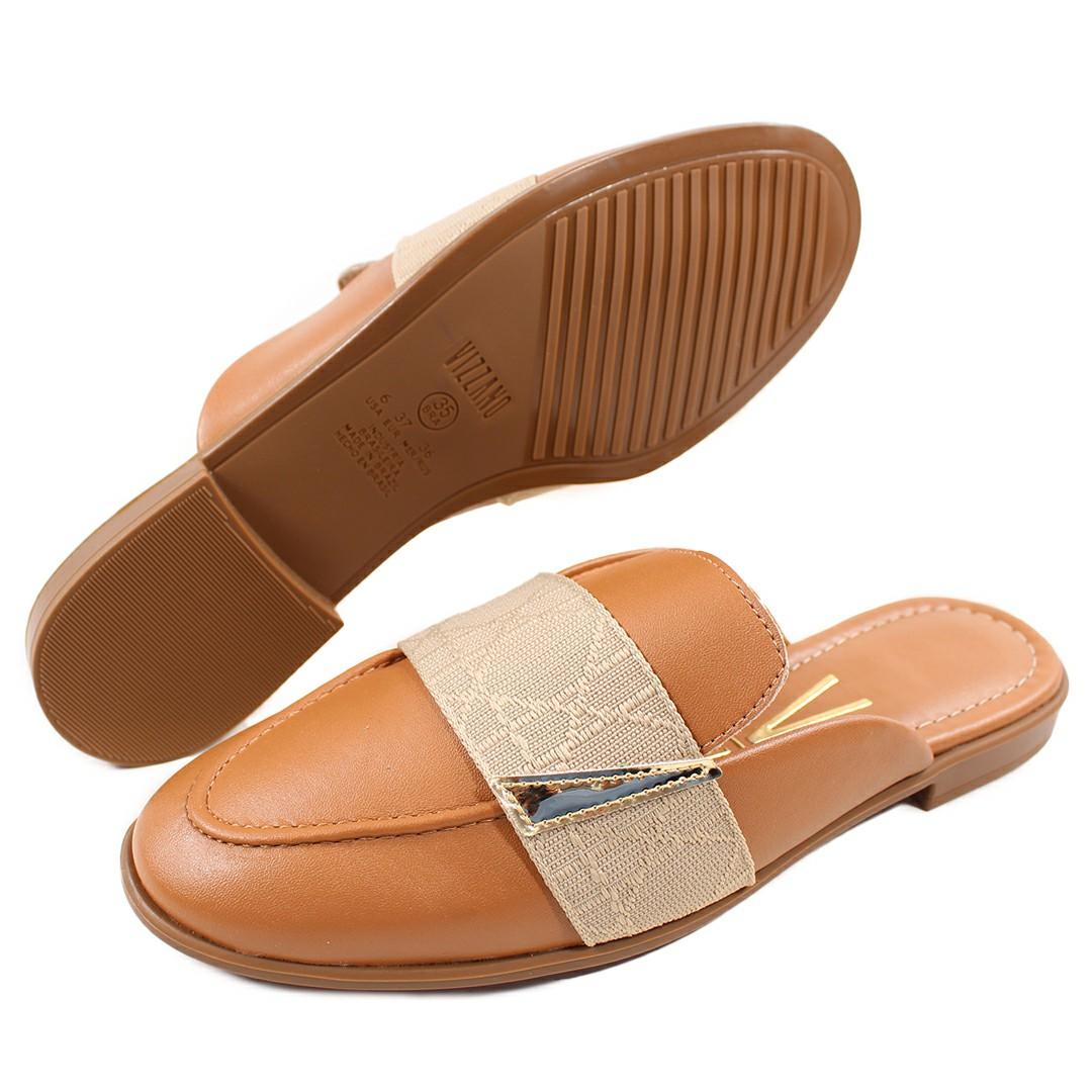 Sapato Feminino Vizzano Pelica/Metal Glamour/Camel/Dourado 1376.104