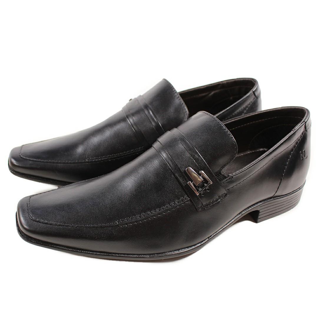 Sapato Masculino Em Couro Nevano Confort Preto