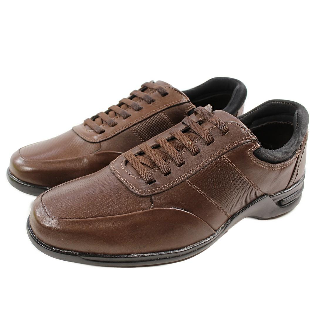 Sapato Masculino Fortiori Couro Cadarço Gel