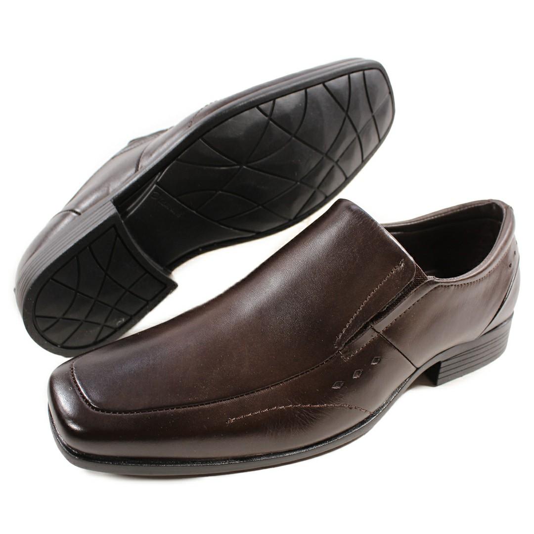 Sapato Masculino Fortiori Couro Dark