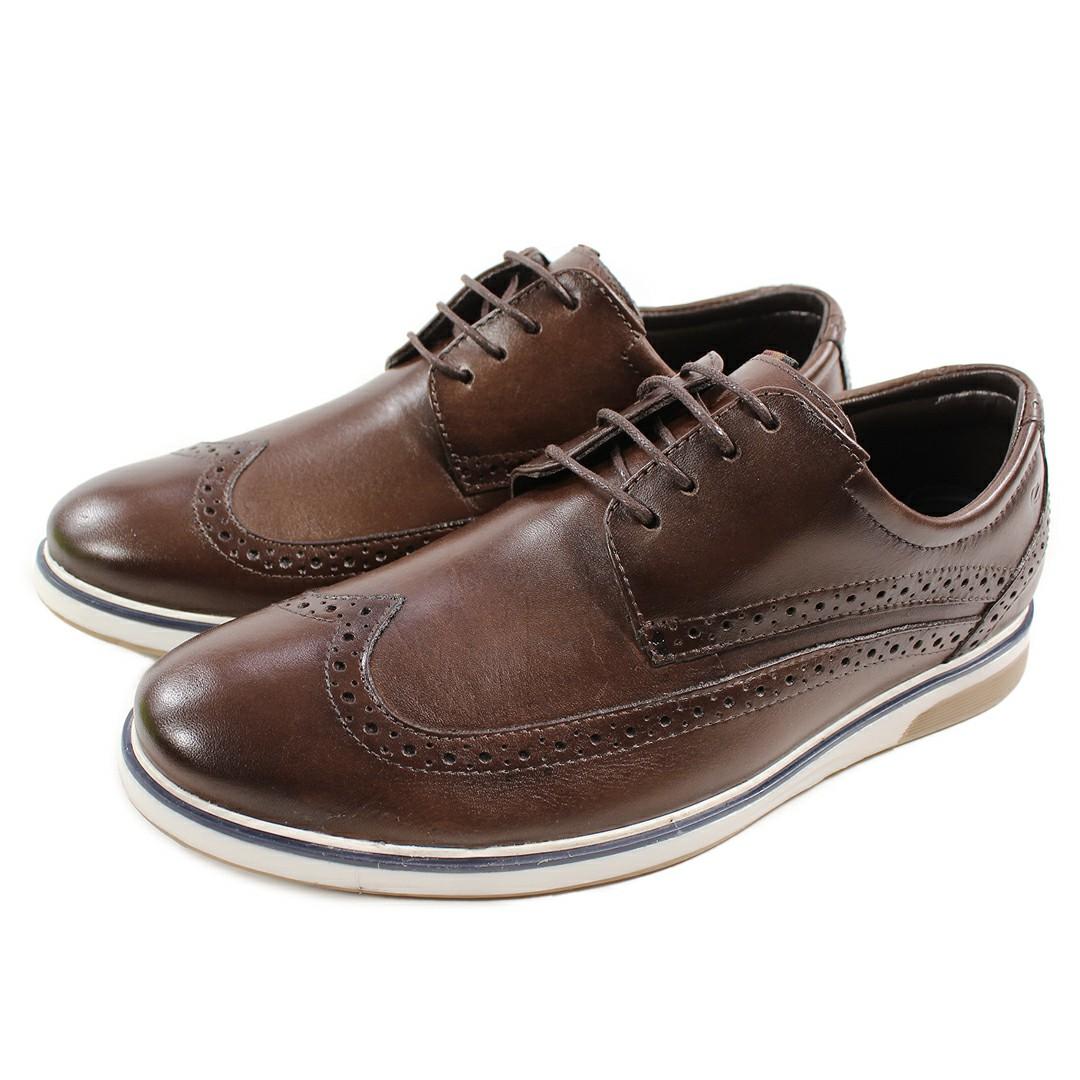 Sapato Masculino Fortiori Couro Dark Brown
