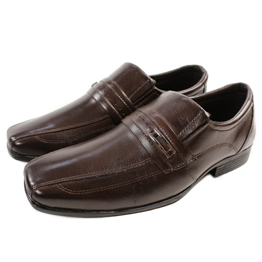 Sapato Masculino Fortiori Couro Dark Fivela