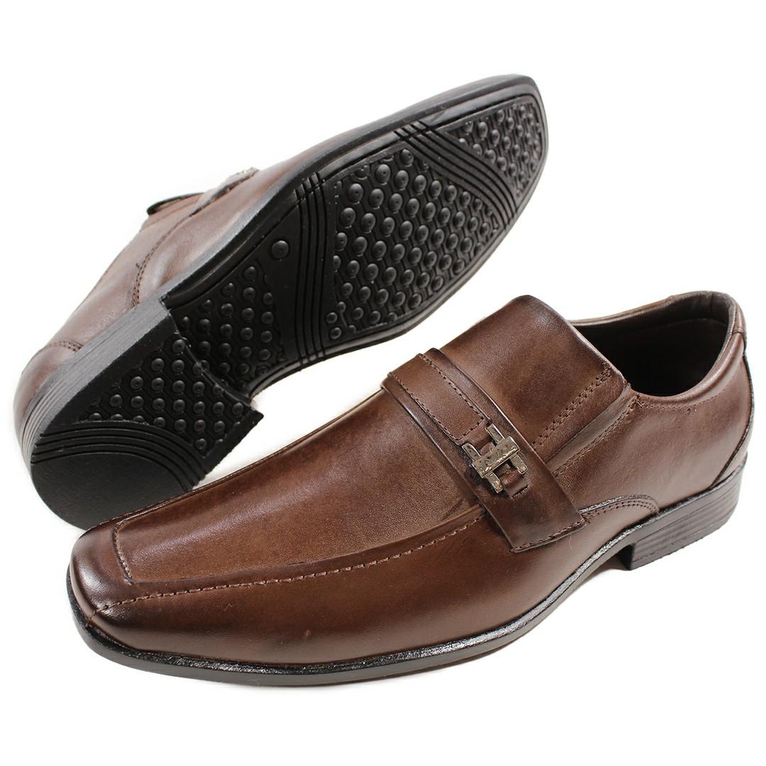 Sapato Masculino Fortiori Couro DarK/Fivela