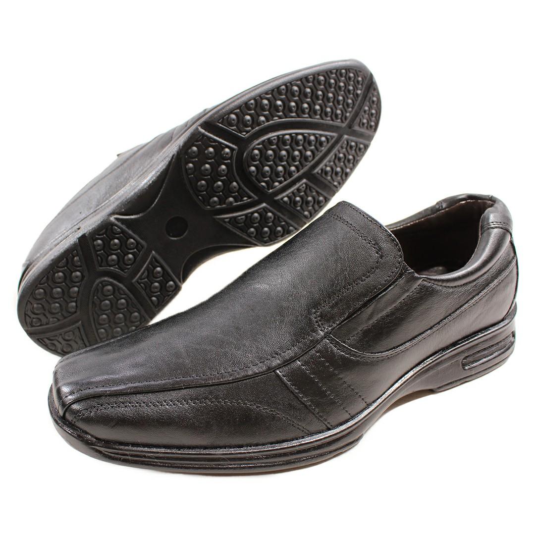 Sapato Masculino Fortiori Couro Elastico