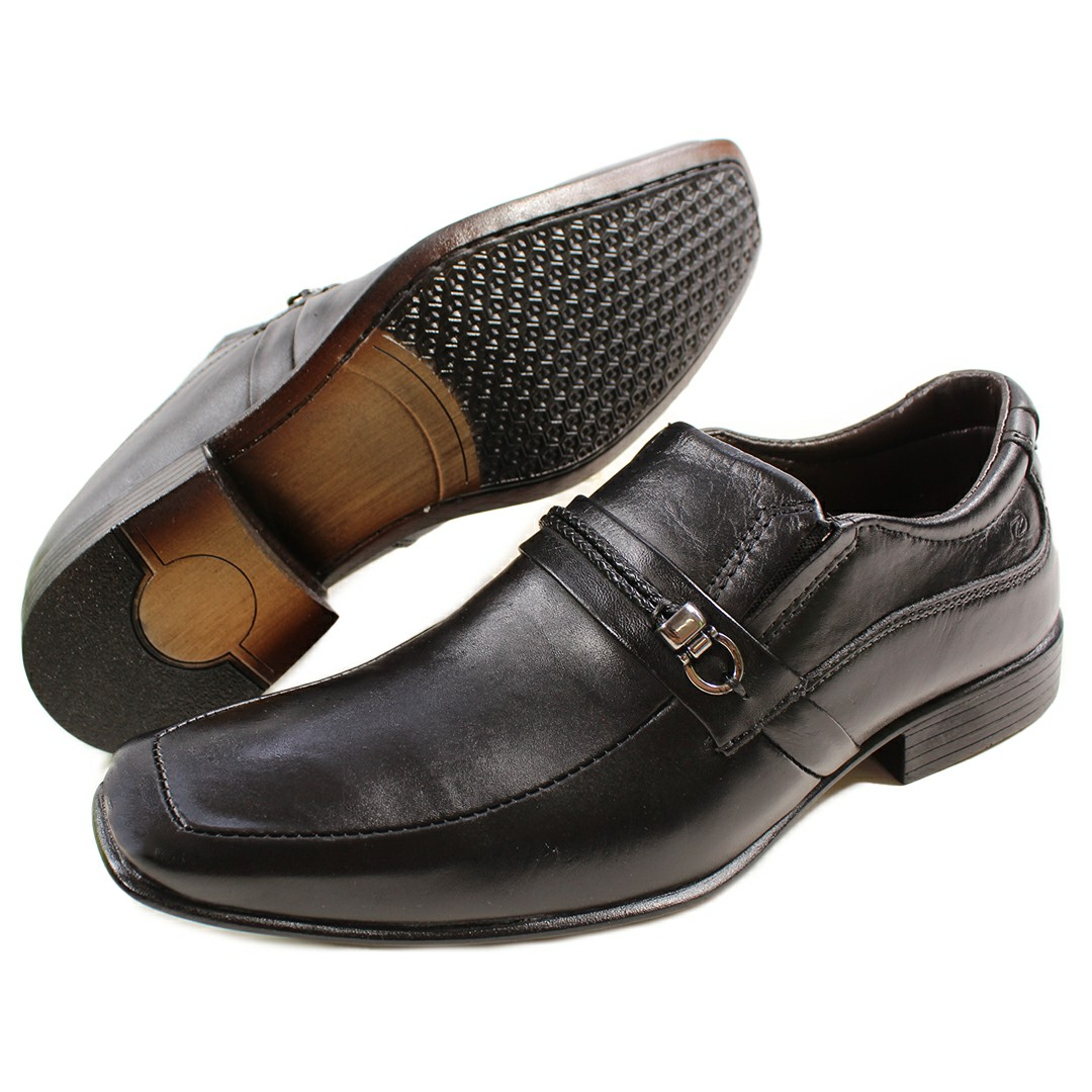 Sapato Masculino Fortiori Dark Fivela Preto Brown