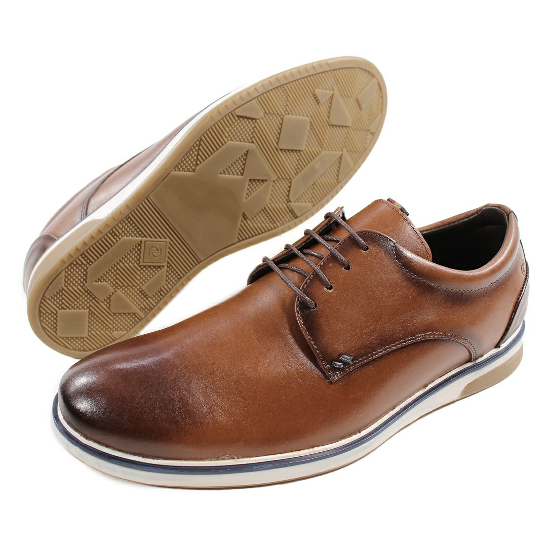 Sapato Masculino Fortiori Dark Tan/Preto
