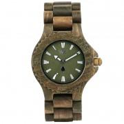 Relógio de Madeira WeWOOD Date Army
