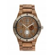Relógio de Madeira WeWood Kardo MB Nut Rough Silver