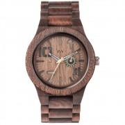 Relógio de Madeira WeWOOD Oblivio Chocolate