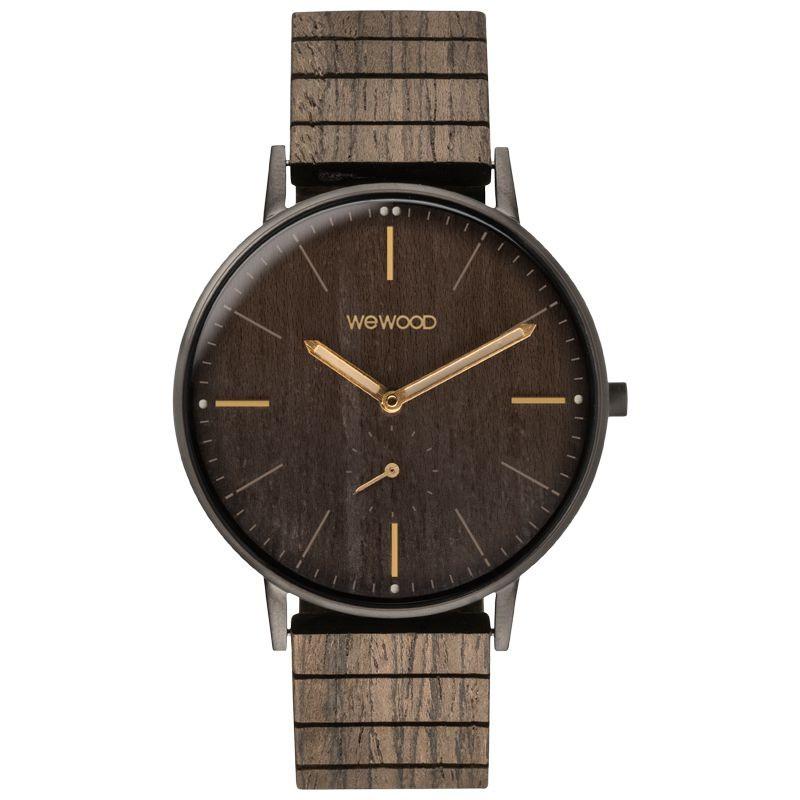Relógio de Madeira WeWOOD Albacore Gun Black Oak