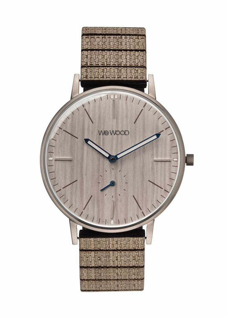 Relógio de Madeira WeWOOD Albacore Silver White Pear