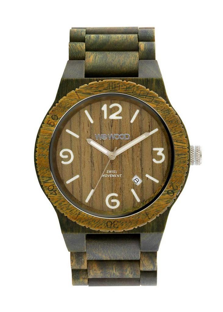 Relógio de Madeira WeWOOD Alpha SW Army