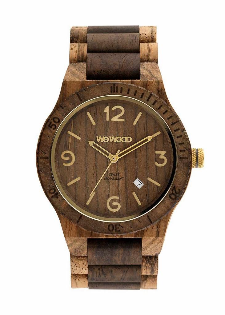 Relógio de Madeira WeWOOD Alpha SW Zebrano Choco Rough