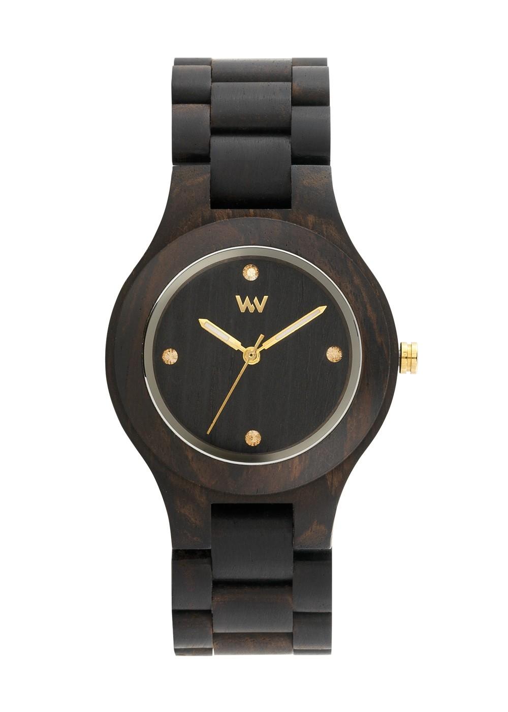 Relógio de Madeira WeWOOD Antea Black/Gold