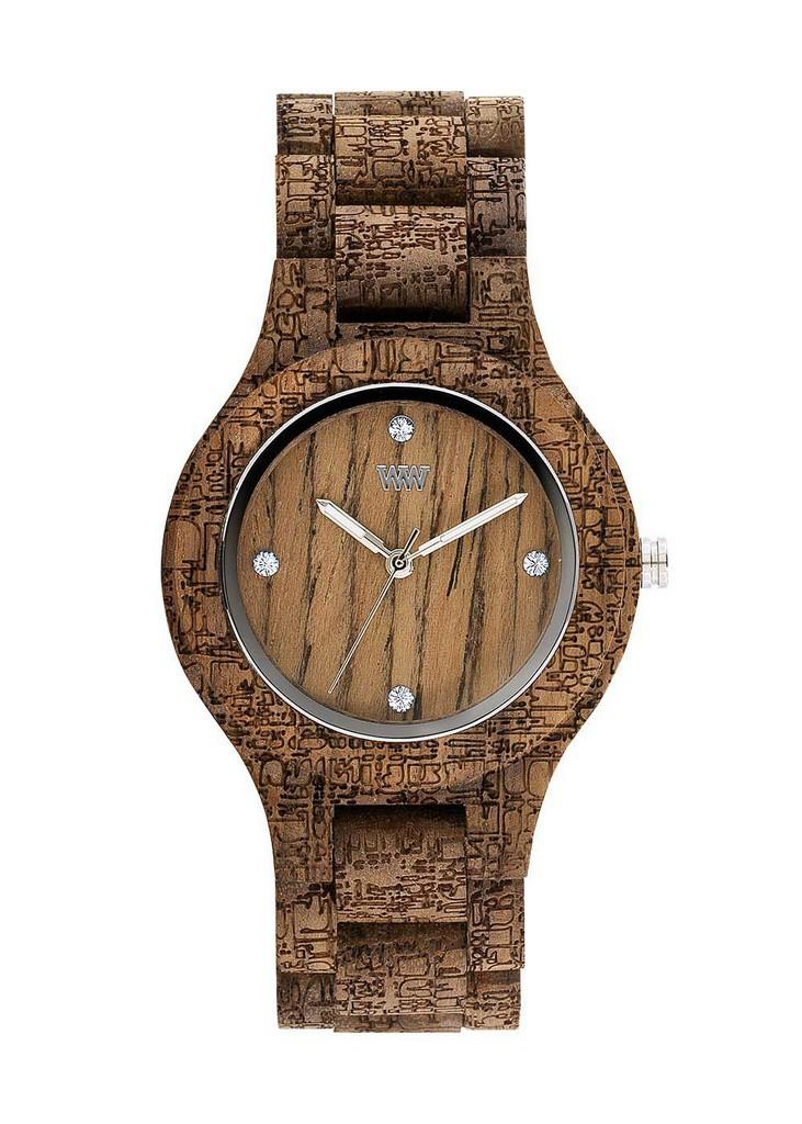 Relógio de Madeira WeWOOD Antea Nut Rough Fabric