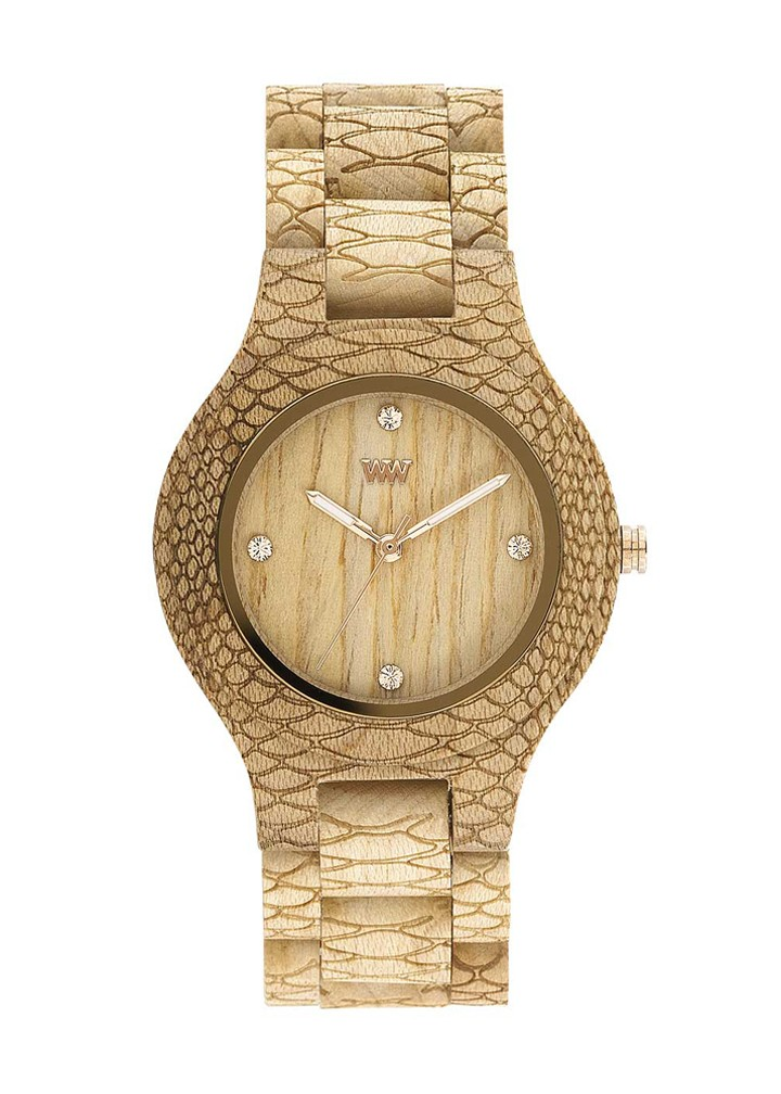 Relógio de Madeira WeWOOD Antea Python Beige