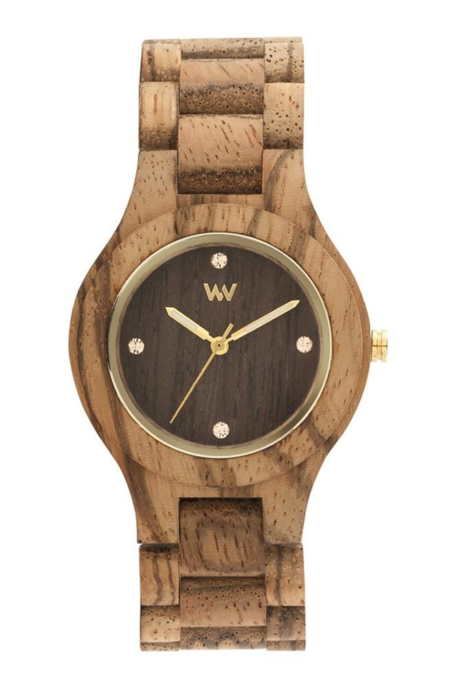 Relógio de Madeira WeWOOD Antea Zebrano Choco Rough