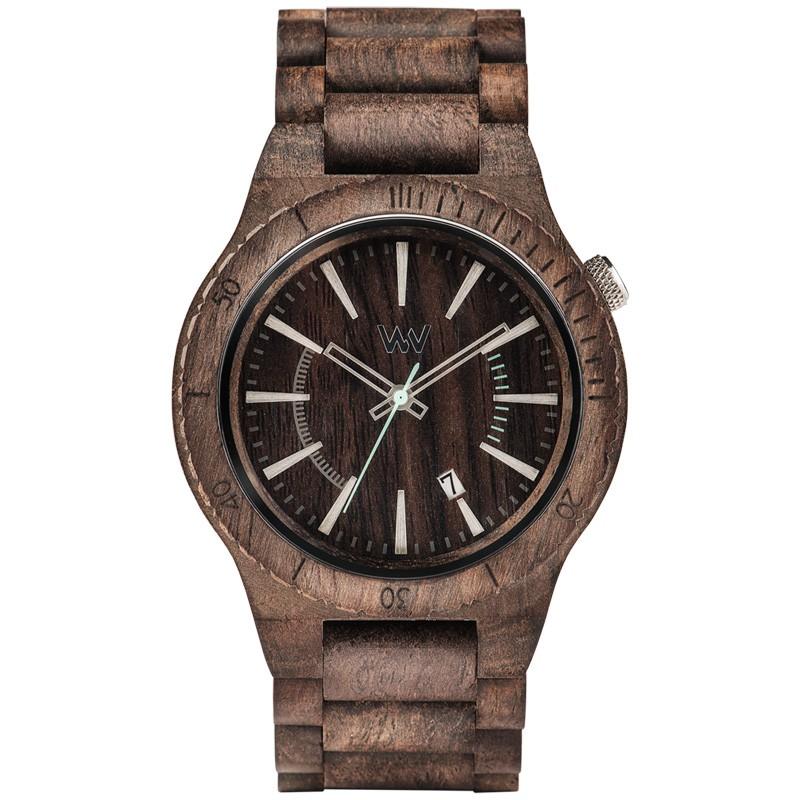 Relógio de Madeira WeWOOD Assunt Choco Rough