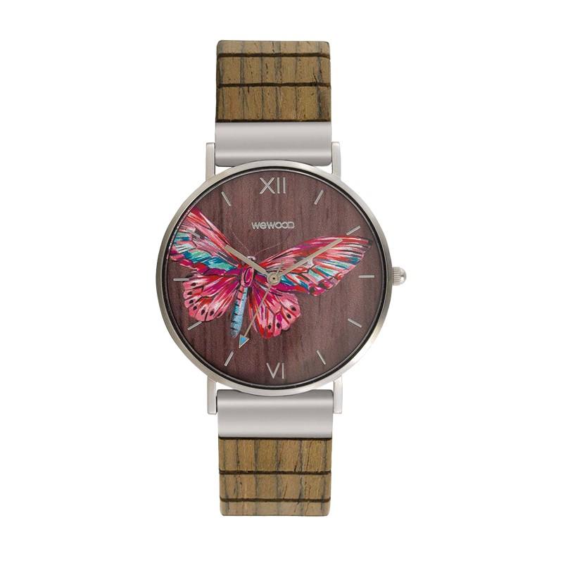 Relógio de Madeira WeWood Aurora Tropical Nut