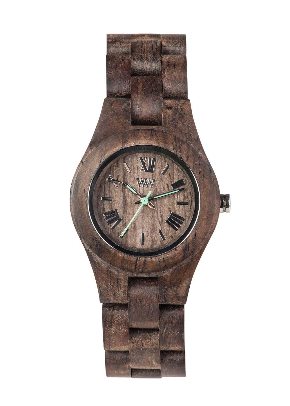 Relógio de Madeira WeWOOD Criss Choco Rough