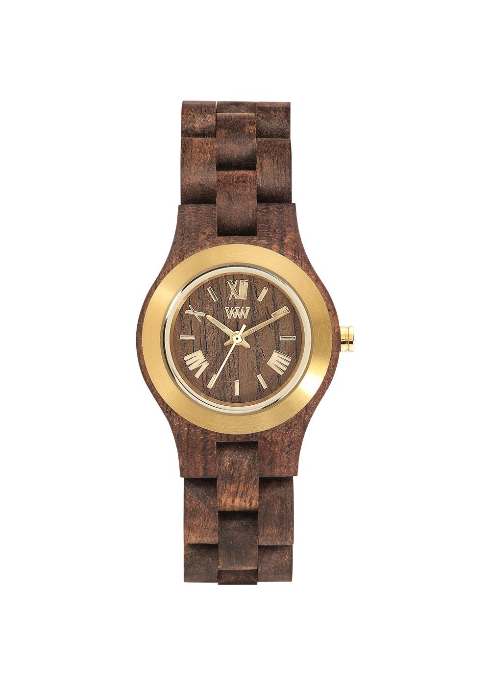 Relógio de Madeira WeWOOD Criss MB Choco Gold