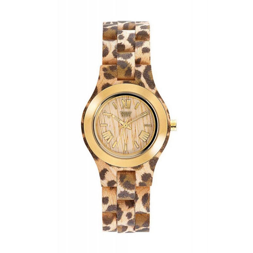Relógio de Madeira WeWOOD Criss MB Leo Beige Gold