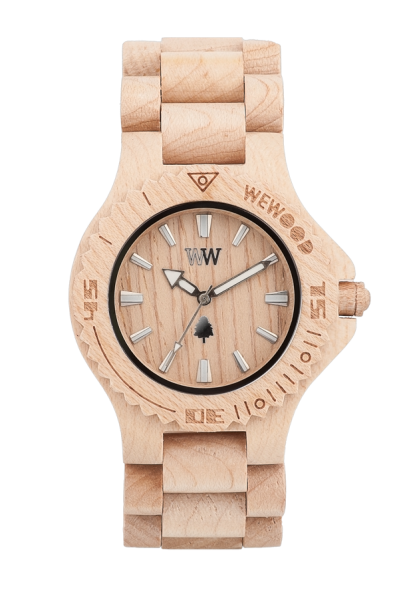 Relógio de Madeira WeWOOD Date Beige