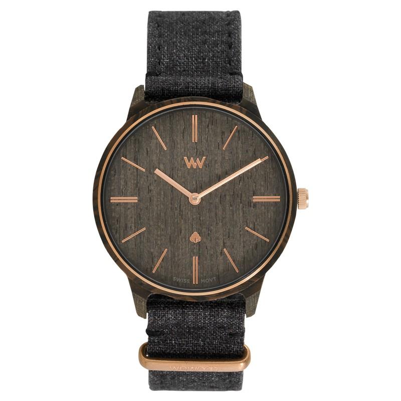 Relógio de Madeira WeWOOD Íris Linho Black Rose