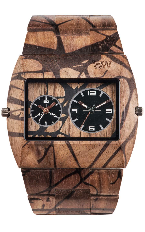 Relógio de Madeira WeWOOD Jupiter Nature Tree Nut