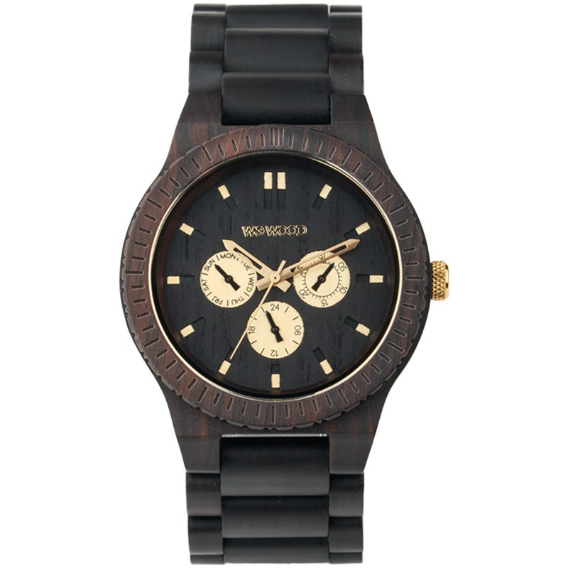 Relógio de Madeira WeWood Kappa Black RO