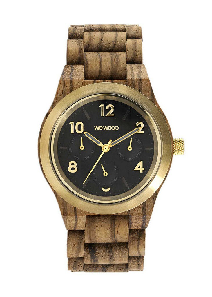 Relógio de Madeira WeWood Kyra MB Zebrano Gold