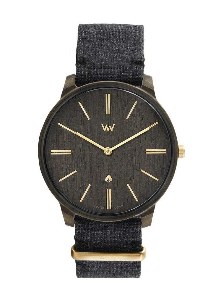 Relógio de Madeira WeWOOD Ross Black Gold