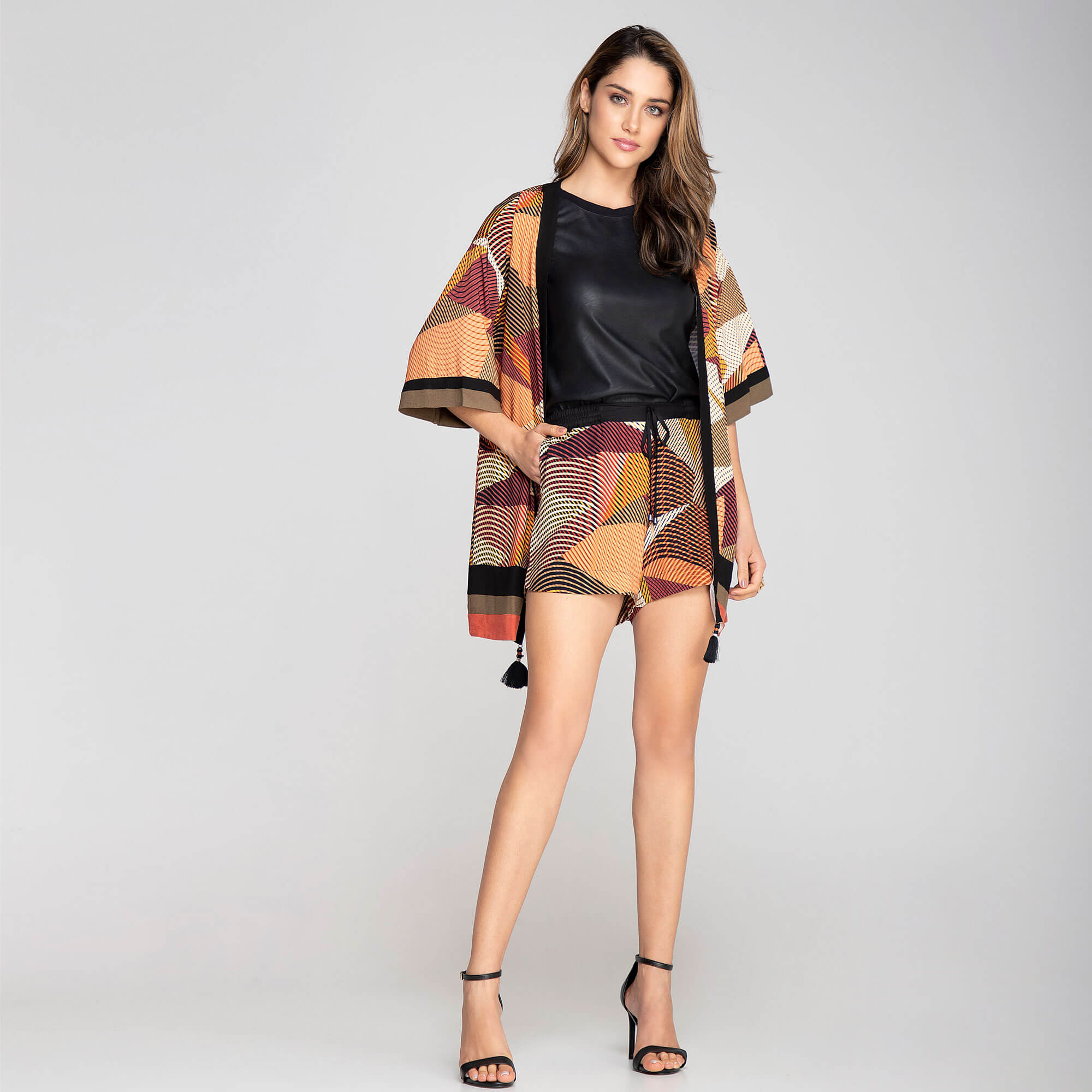 Kimono Viscose Abstrato