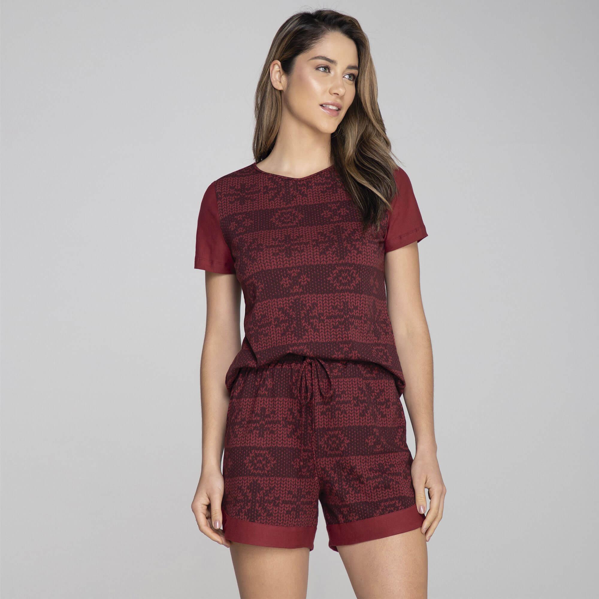 Pijama Malha Estampa Tricot