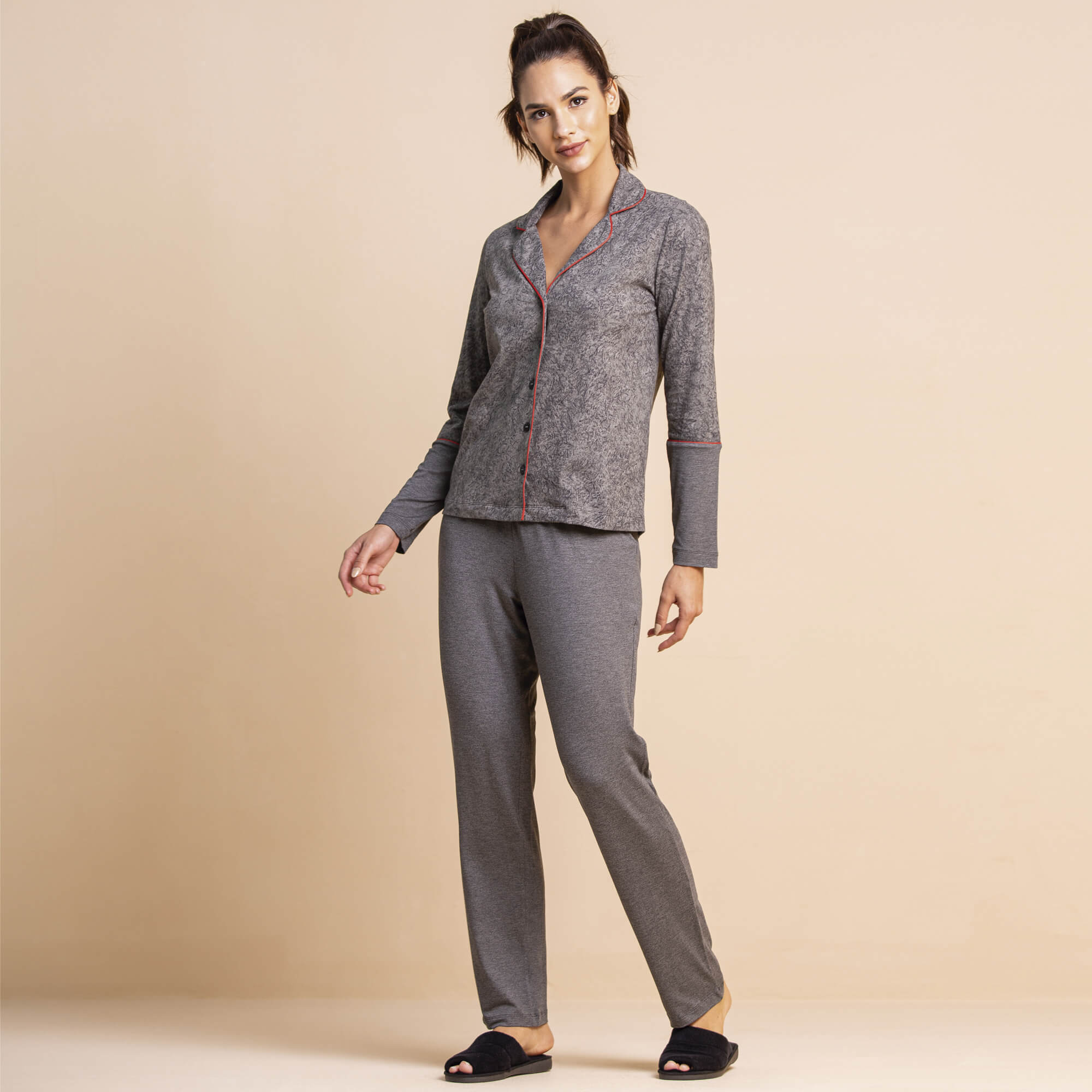 Pijama Longo c/ Blusa Camuflada