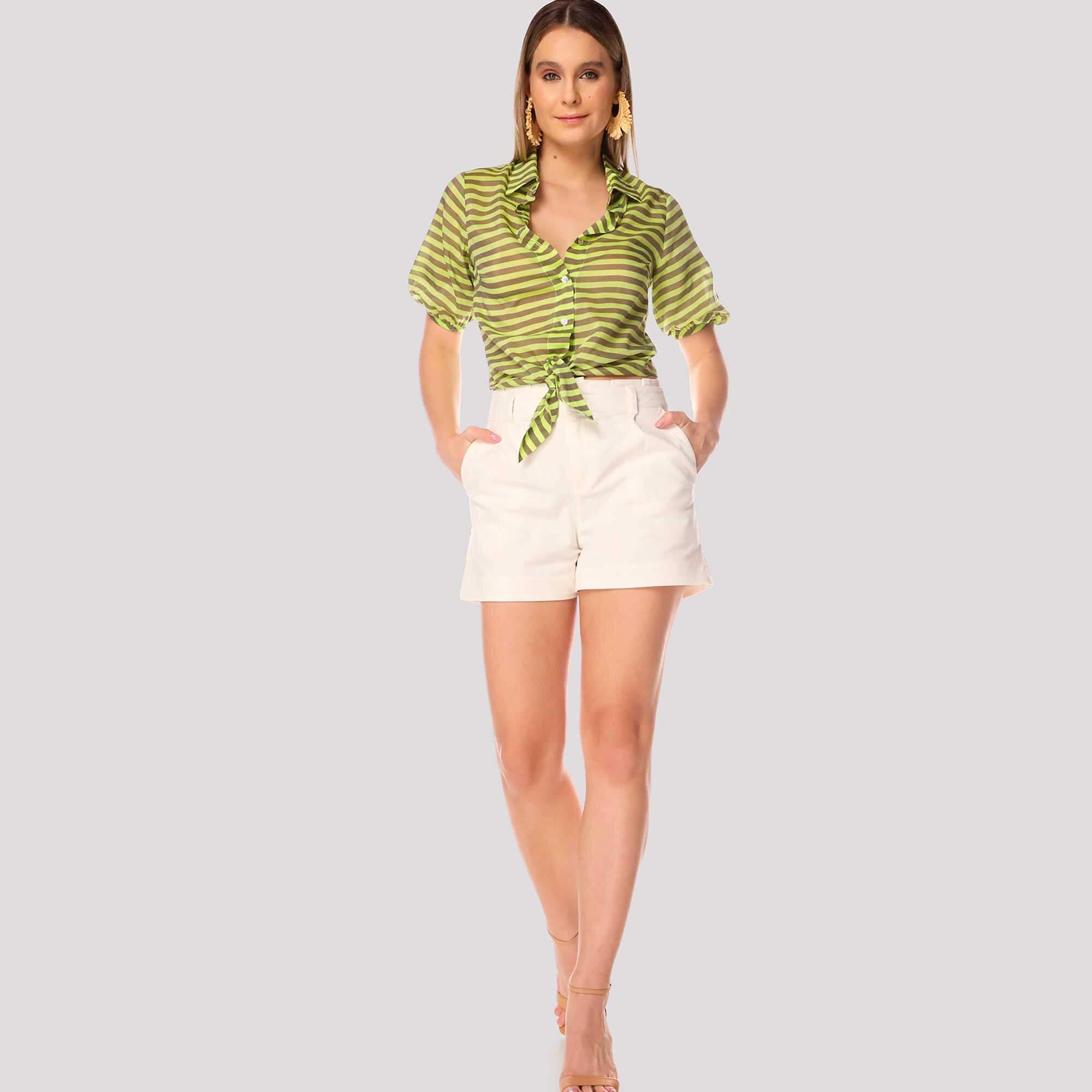 Shorts Jacquard Texturas