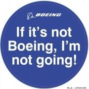 Adesivo - Boeing
