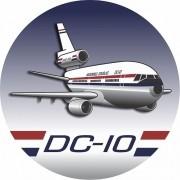 Adesivo DC-10 Varig