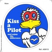 Adesivo - Kiss a Pilot