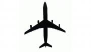 Adesivo Plotter - Airbus Preto