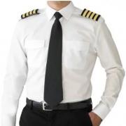 Camisa Feminina - Comprimento Extra - Manga Longa Branca