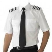 Camisa para Piloto - Manga Curta - Colarinho Preto - Masculina