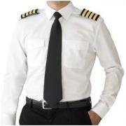 Camisa para Piloto - Manga Longa - Colarinho Preto - Masculino