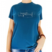 T-shirt Feminina - Croqui Avião