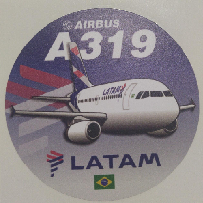 Adesivo A319 Latam