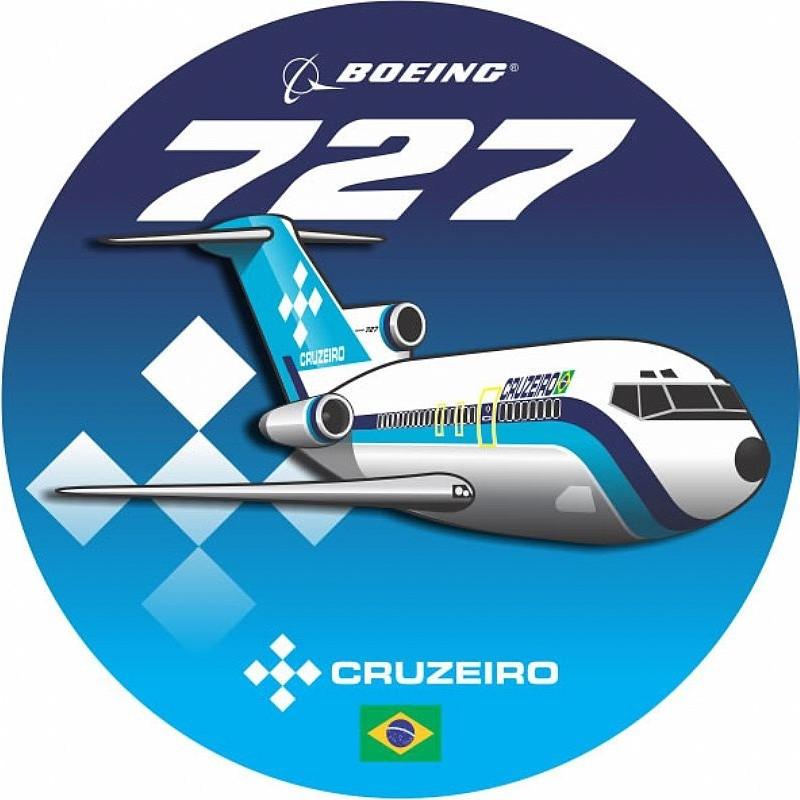 Adesivo Boeing 727 Cruzeiro