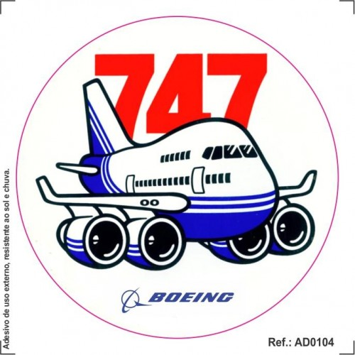 Adesivo - Boeing 747