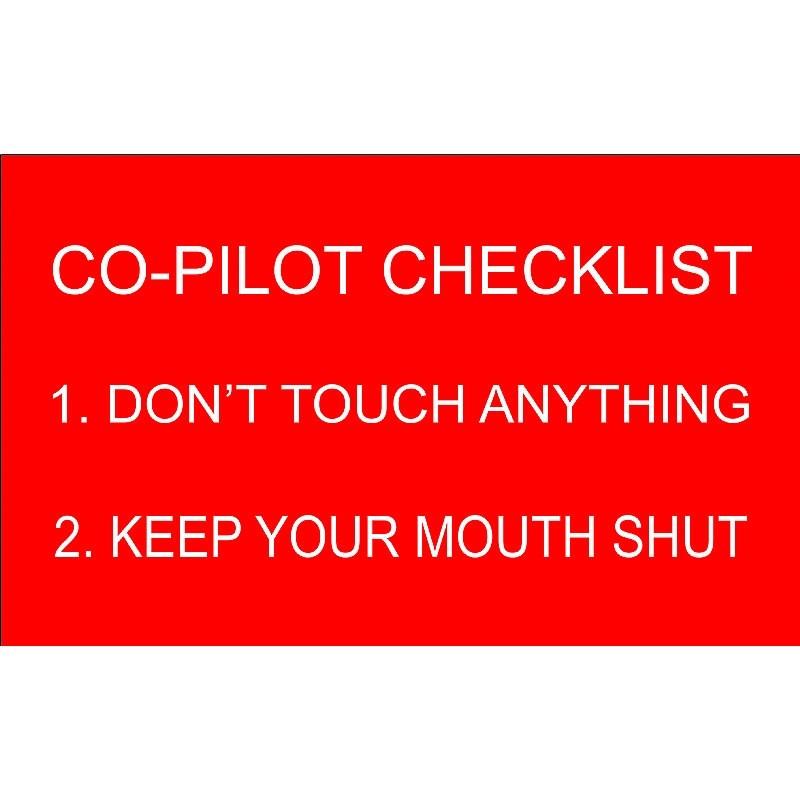 Adesivo Copilot Checklist